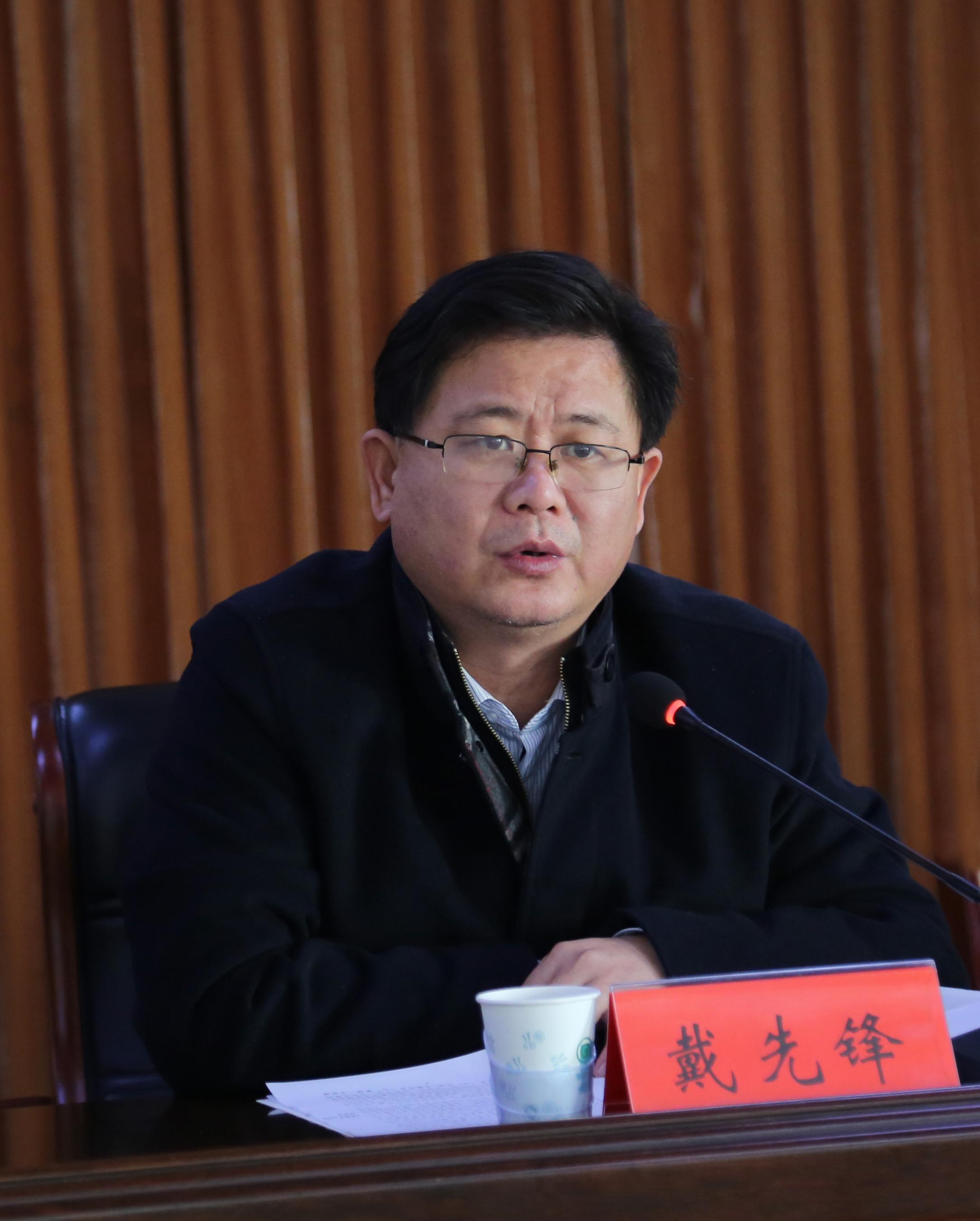 新泰市委常委、宣传部部长戴先锋做重要讲话